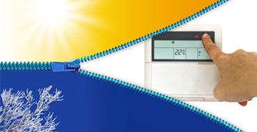 Pompe à chaleur avec système de températures réversibles